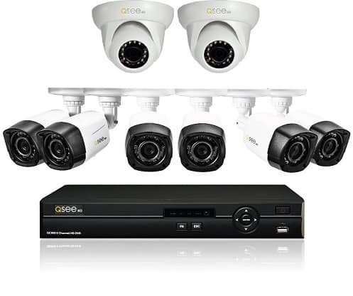 Q-See QC908-8U7-2 8 Channel AnalogHD DVR 2TB Hard Drive and 8 HD 720p AnalogHD Cameras