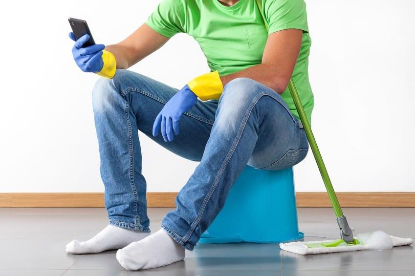 Break during housework