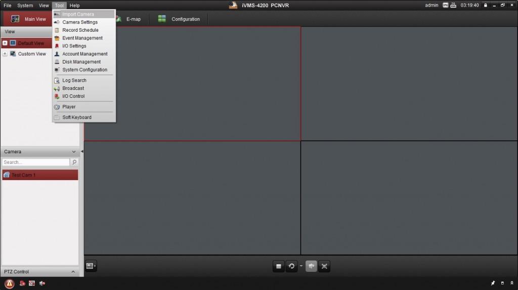 Add camera in PCNVR