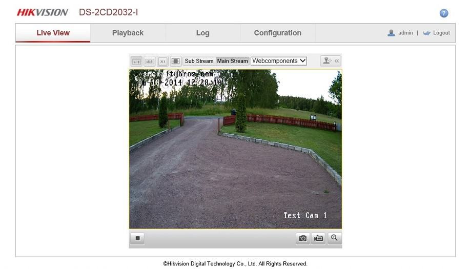 Live view web interface