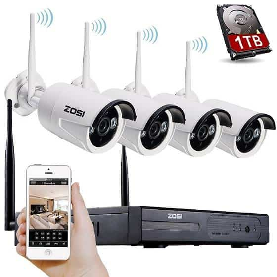 ZOSI 720p Wireless Outdoor IP Camera System