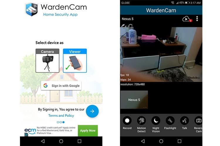 How to turn your android phone into a security camera and