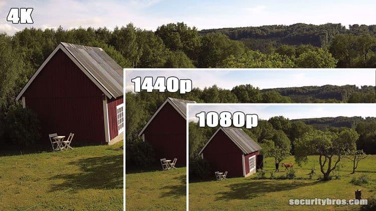 4K vs 1440p vs 1080p Security Cameras | SecurityBros